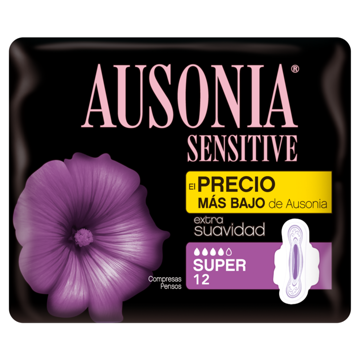 COMPRESA SENSITIVE SUPER ALAS AUSONIA 12 UD