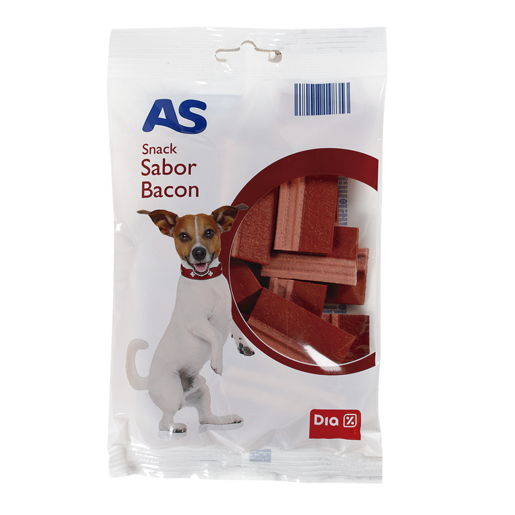 AS Snack com Sabor Bacon Para Cão 120 g