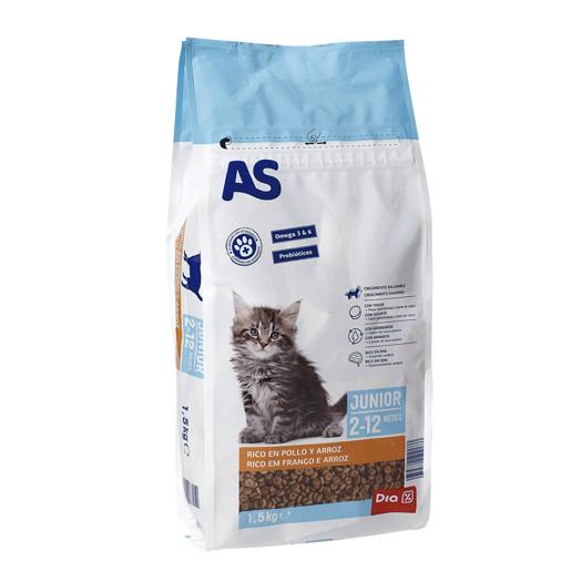 AS Alimentação Seca Para Gato Menu Júnior 1,5 kg