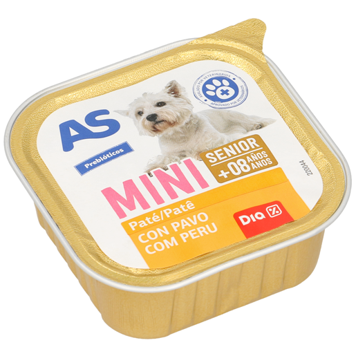 AS Paté Cão Sénior Raças Pequenas 150 g