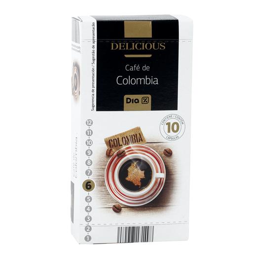 DIA DELICIOUS Cápsulas de Café Colombia (Intensidade 6) 10 un